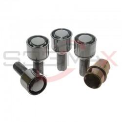 Zabezpieczenia kół M12x1.5 kula - felga aluminiowa